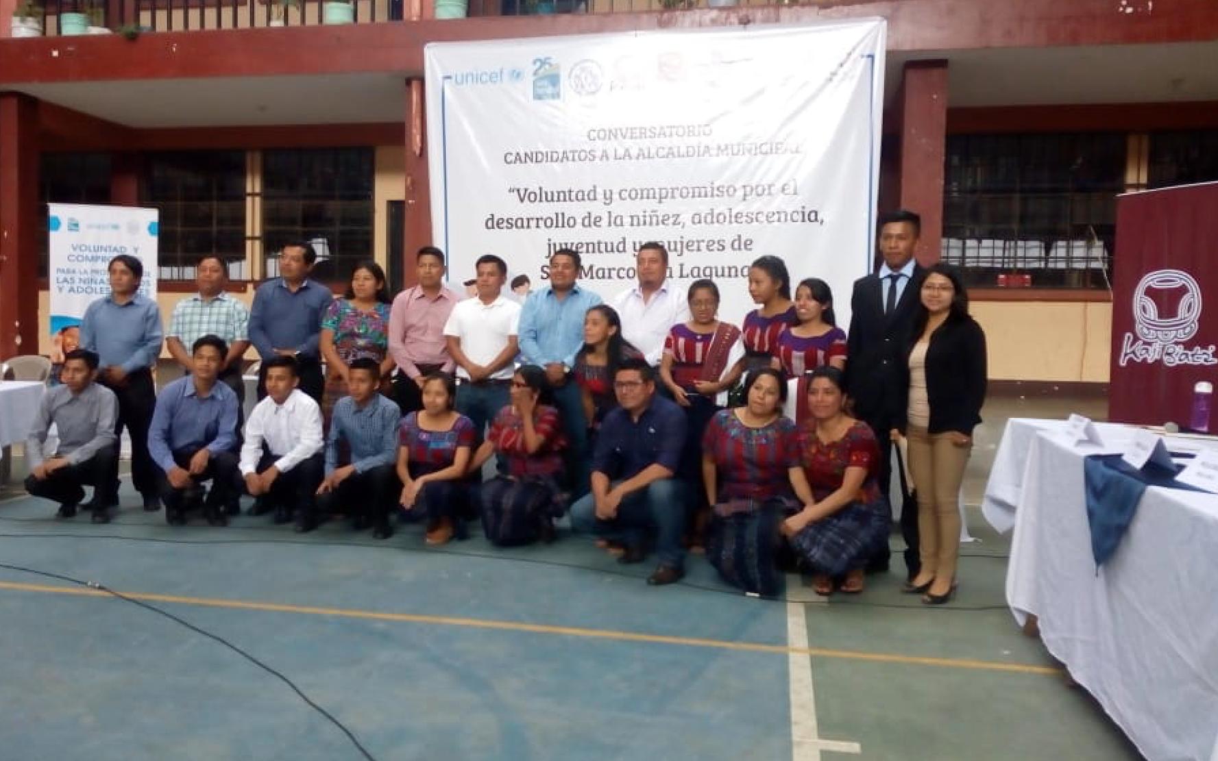 Resultados del conversatorio sobre niñez, adolescencia, juventud y mujeres con candidatos a la alcaldía de San Marcos La Laguna
