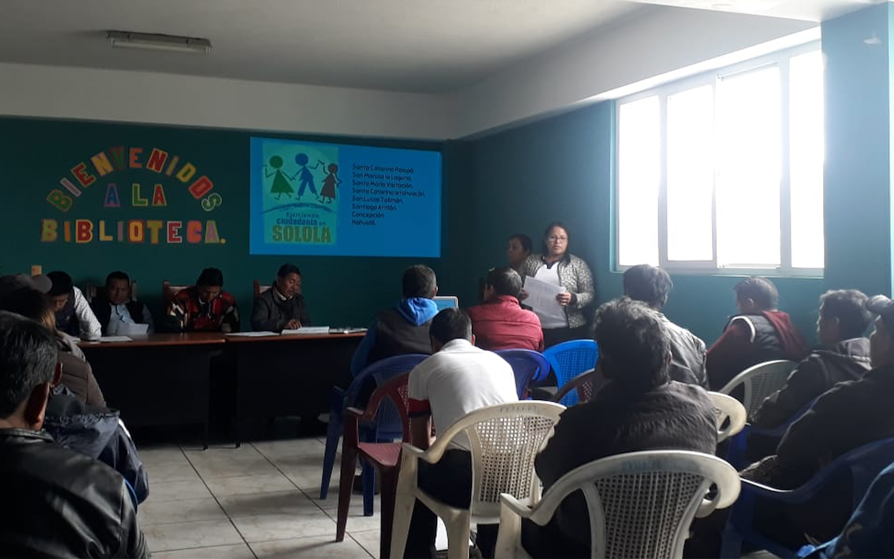 Presentación del proyecto «Fortalecimiento de organizaciones de sociedad civil a nivel comunitario y departamental» en municipios de Sololá