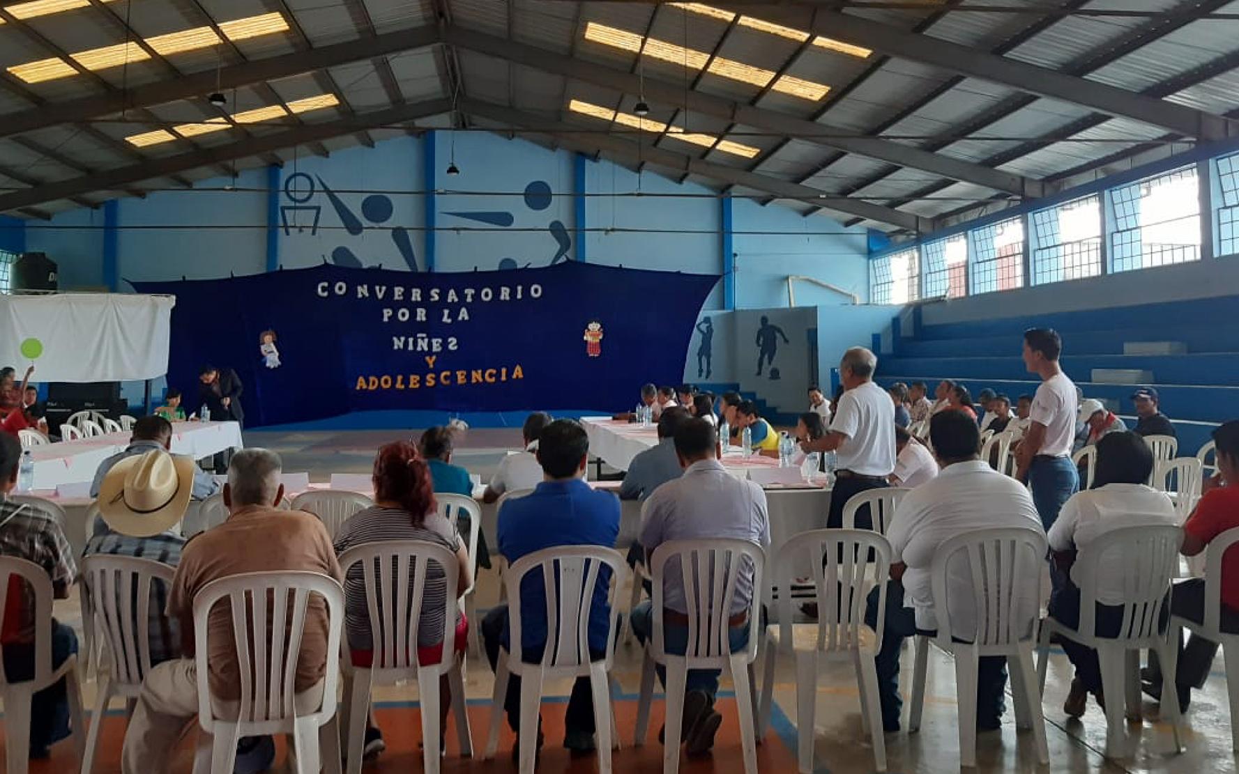 Organizaciones de niñez y adolescencia de Samayac y San Pablo Jocopilas participan en Conversatorio con candidatos a la alcaldía