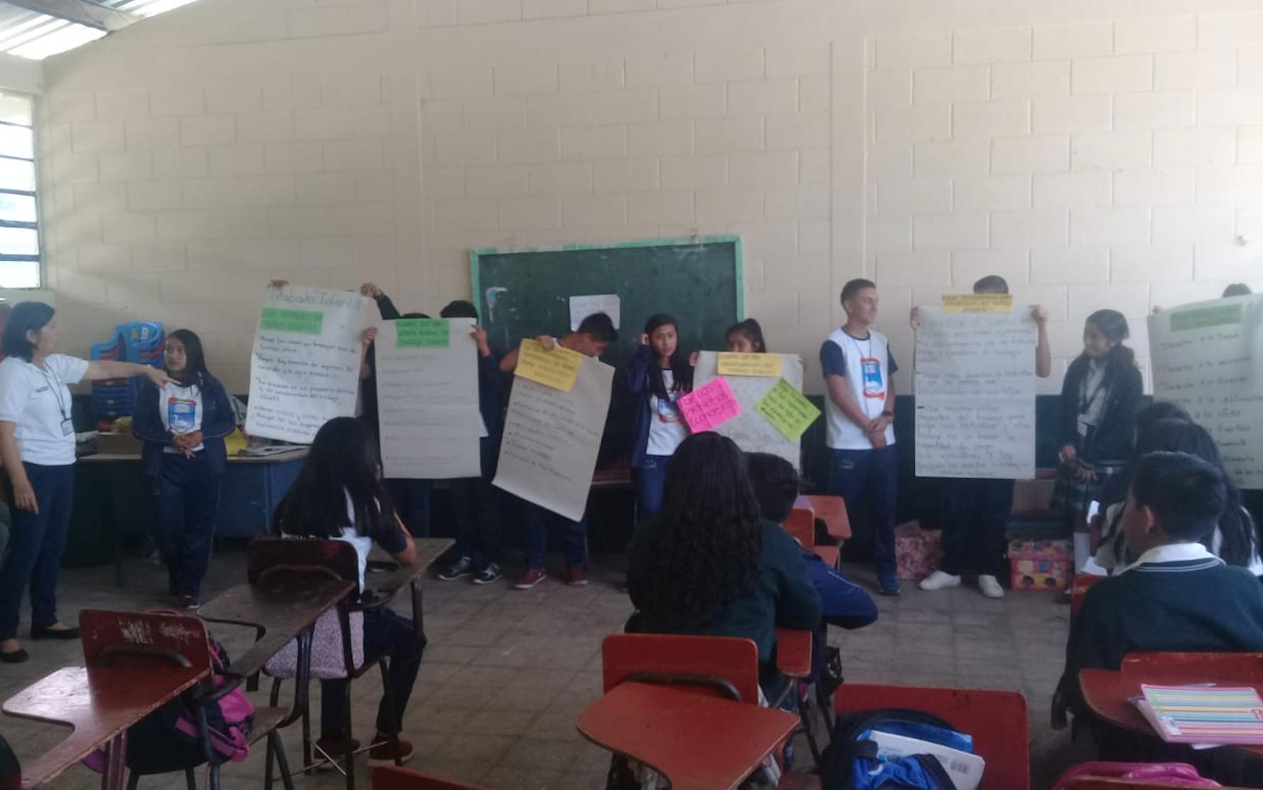 Conmemoración de la erradicación y prevención del trabajo infantil, en Chimaltenango