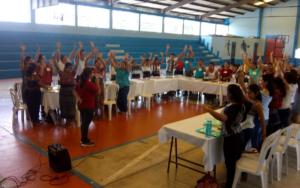 Segundo taller del diplomado Docencia para la paz y el respeto a los derechos de la niñez y juventud de Guatemala, en Samayac, Suchitepéquez