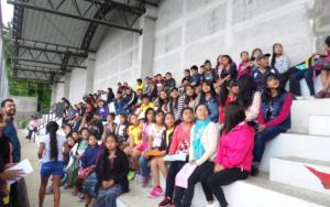 Niñez, adolescencia y juventud participan en Festival de Derechos, en Santa María Visitación, Sololá