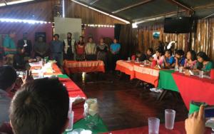 Adolescentes y jóvenes de cambio Atitlán Tolimán, dan seguimiento de transición con alcalde y concejo municipal, de San Lucas Tolimán, Sololá