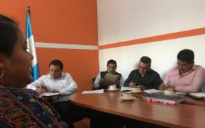 Presentación de PAMI ante Alcalde y Concejo Municipal de San Martín Jilotepeque