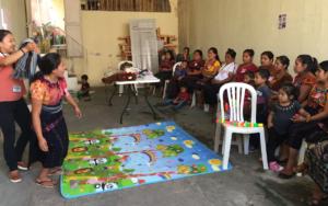 Madres de Santa Catarina Ixtahuacán, Sololá, beneficiadas con un proceso de formación para favorecer a niñez de primera infancia