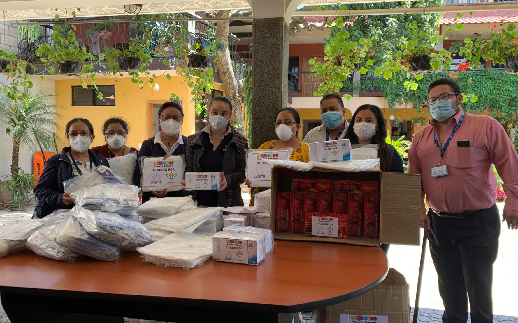 PAMI a través del proyecto CDI Semilla, hace entrega de insumos de protección a personal de salud en Sololá