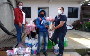 PAMI entrega insumos alimenticios y de higiene a Red Juvenil NIV NAUC, en Sololá