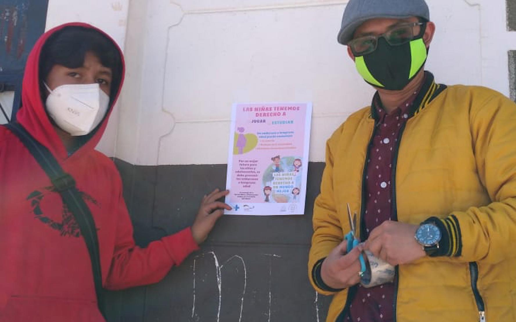 Adolescentes y jóvenes de la Red NIV NAUC, realizan campaña de prevención de embarazos en adolescentes, en Santa Catarina Ixtahuacán