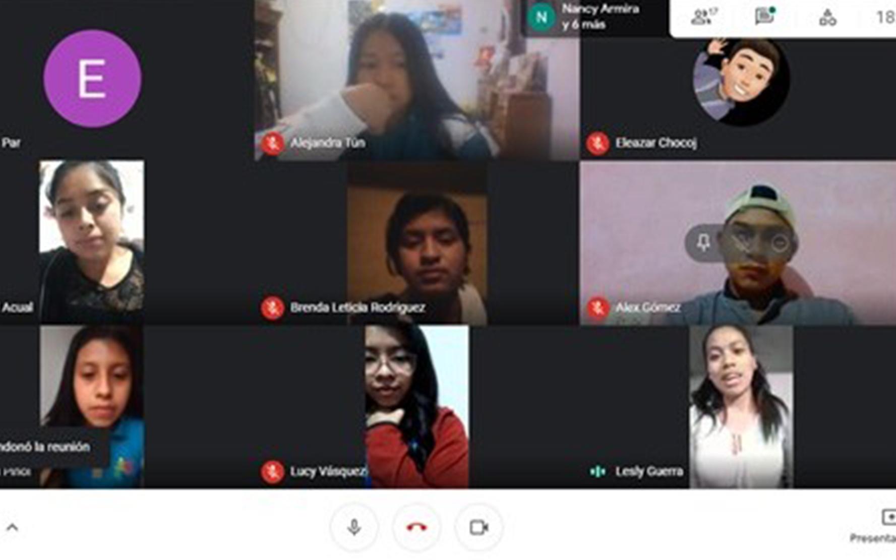 Adolescentes y jóvenes organizados de San Martín Jilotepeque, organizan y participan en taller virtual sobre salud mental y cómo atenderla en tiempos de COVID