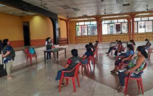 PAMI socializa el proyecto S.O.S. por los Derechos de la Niñez y Adolescencia, con grupos de mujeres, en Santo Tomás la Unión, Suchitepéquez