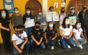 Concurso de pintura y dibujo organizado por adolescentes y jóvenes de Chimaltenango, por el Día Mundial contra el Trabajo Infantil
