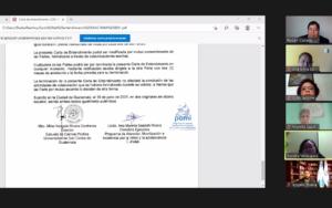 Se firma carta de entendimiento entre PAMI y la Escuela de Ciencias Políticas de la Universidad de San Carlos de Guatemala
